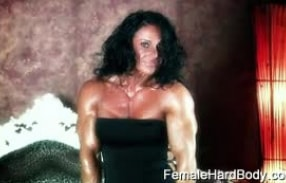 The amazing muscle babe Debbie Bramwell